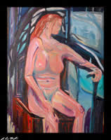 dreamer nude figurative portrait by d loren champlin