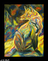 the fox 1995 pastel on paper by champlin